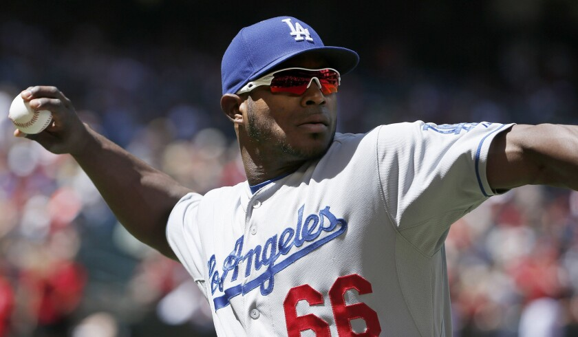 Dodgers outfielder Yasiel Puig will start in the right field on Tuesday against the San Francisco Giants. Puig has missed four of the last five games with a sore left hamstring.