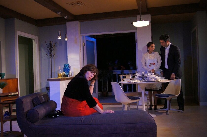 """From left: Catalina Maynard, Anyelid Meneses and Jorge Rodriguez in """"Julia."""" Ion Theatre"""