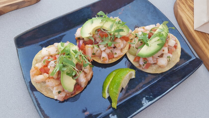 At Drift, seasonal ceviche is served on tortillas