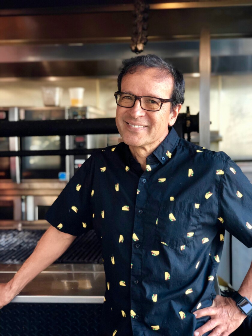 Lola 55 owner Frank Vizcarra, in a taco shirt.