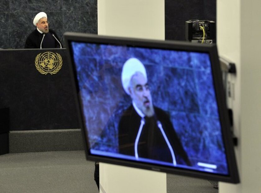 Iranian President Hassan Rouhani addresses the United Nations General Assembly.