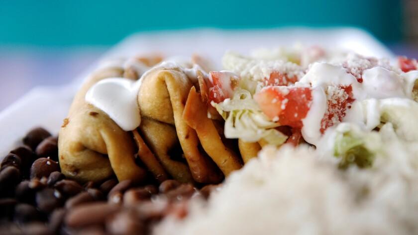 At El Gran Burrito, chimichangas come three to an order.