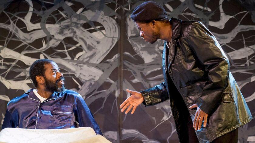 """The Moxie production of """"Blue Door"""" features Vimel Sephus (left) and Cortez L. Johnson."""