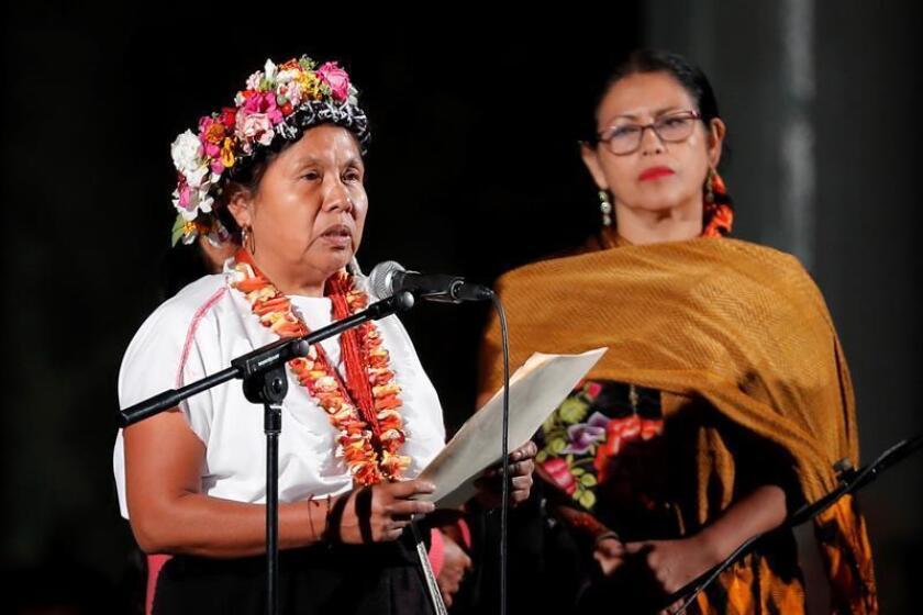 Fotografía de la indígena aspirante a la Presidencia de México María de Jesús Patricio Martínez (c). EFE/Archivo
