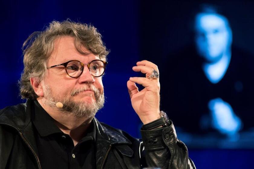 El director mexicano Guillermo del Toro, durante su intervención en la masterclass en el marco de la vigésima primera edición del Festival de Málaga de Cine en Español. EFE/Archivo
