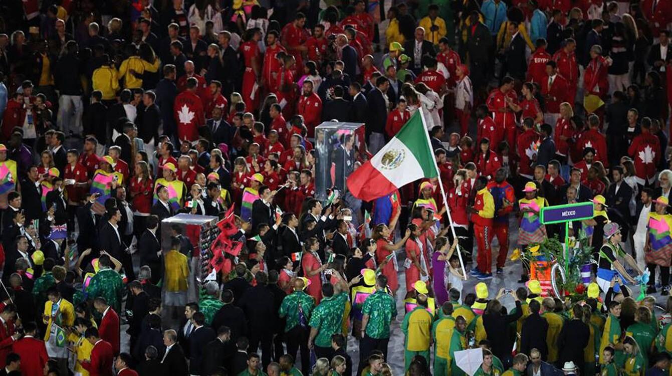 Así desfiló la delegación mexicana en la inauguración de los Juegos Olímpicos Río 2016.
