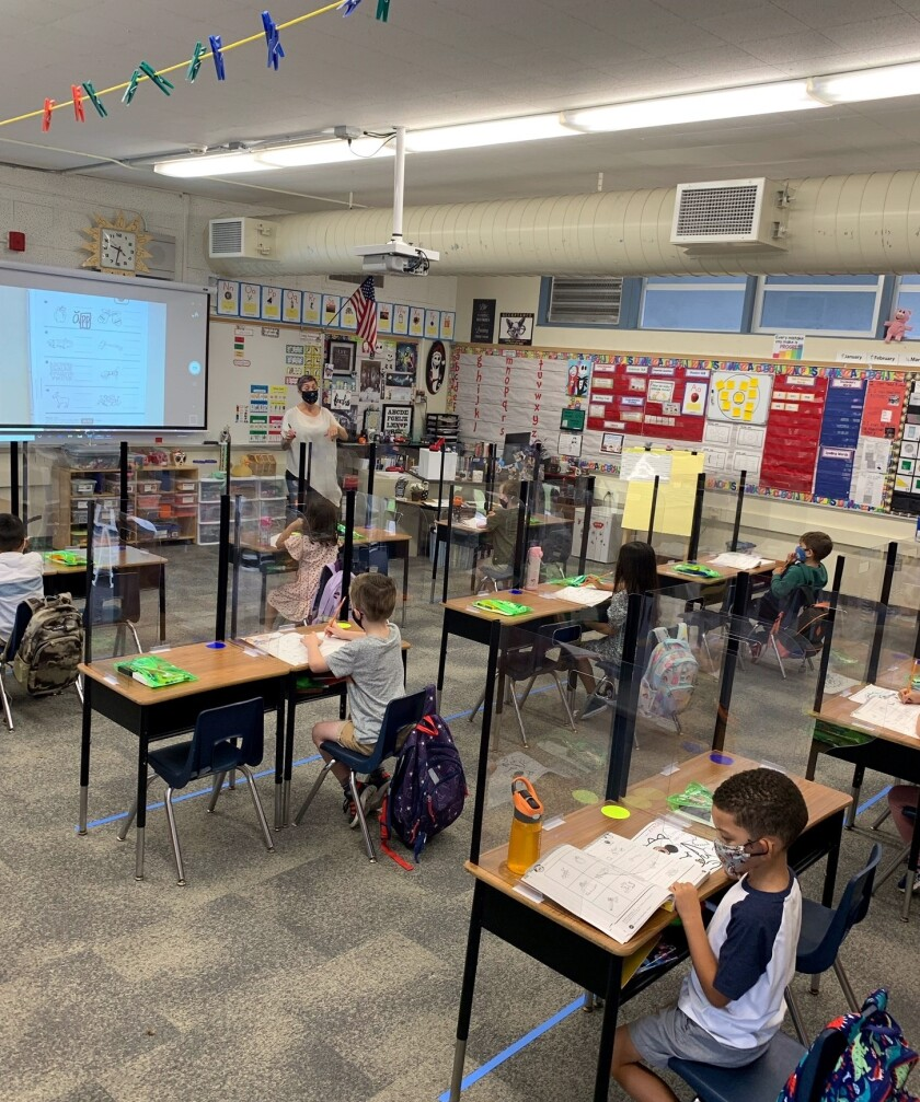 Newport-Mesa Unified School district Tuesday welcomed its TK-2 students back to class.