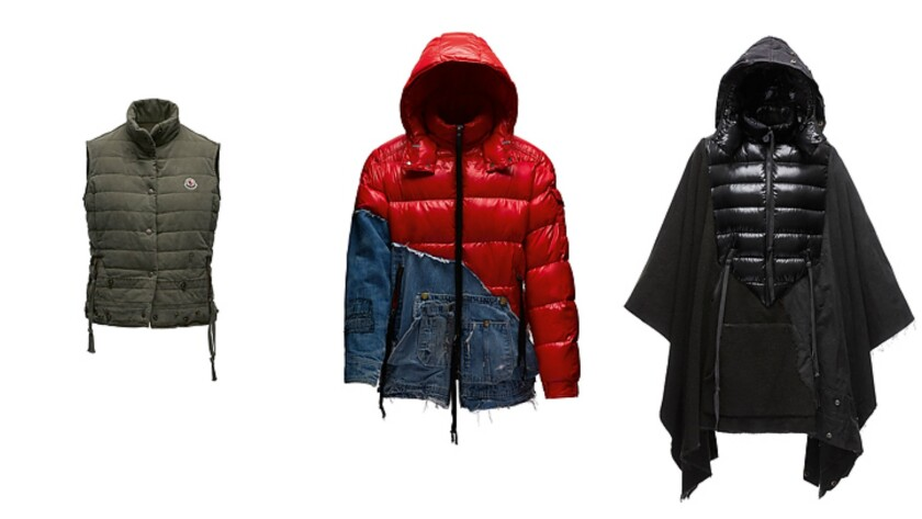 The Collide collection includes three color ways: green (left), a combination of red and blue, and black. Most pieces are expected to retail in the $4,000 range.
