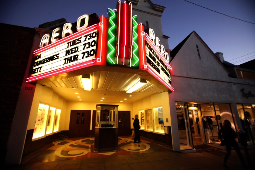 The Aero Theater, on Santa Monica's Montana Avenue, is part of American Cinematheque.