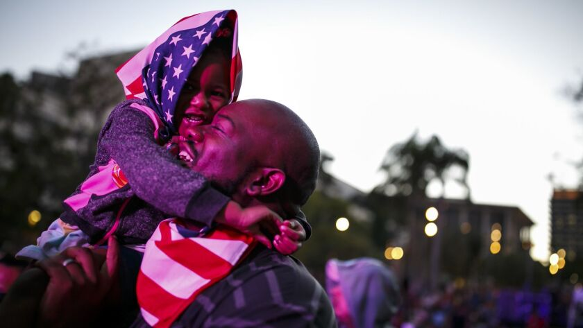 LOS ANGELES, CALIF. -- MONDAY, JULY 4, 2016: Mike Todd embraces his daughter, Maddison Todd, 2 1/2,
