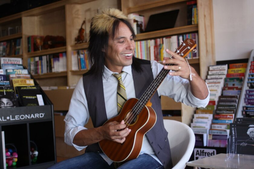 Instructor James Clarkston plays the ukulele and will teach others to do the same at La Jolla Community Center.