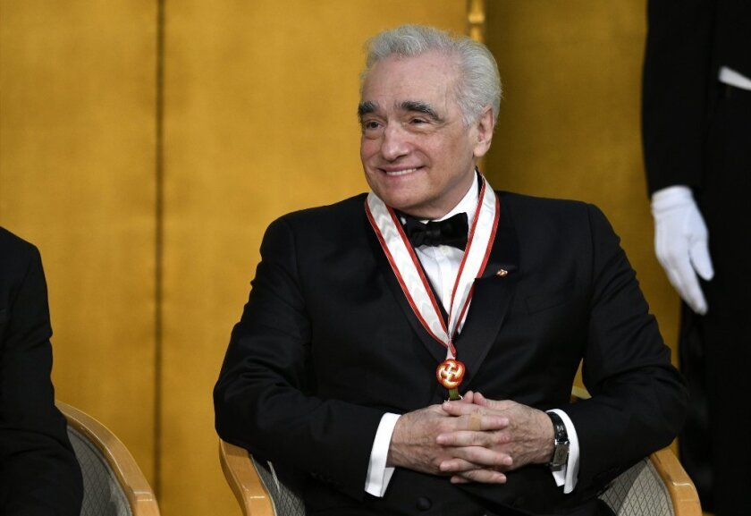 Martin Scorsese attends the 28th Praemium Imperiale in Tokyo.