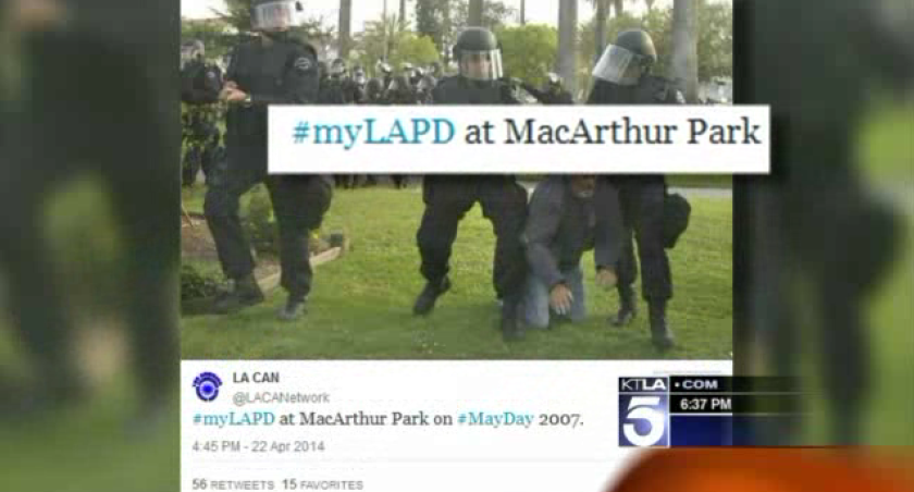 The LAPD was criticized on Twitter following a social media backlash against New York City police.
