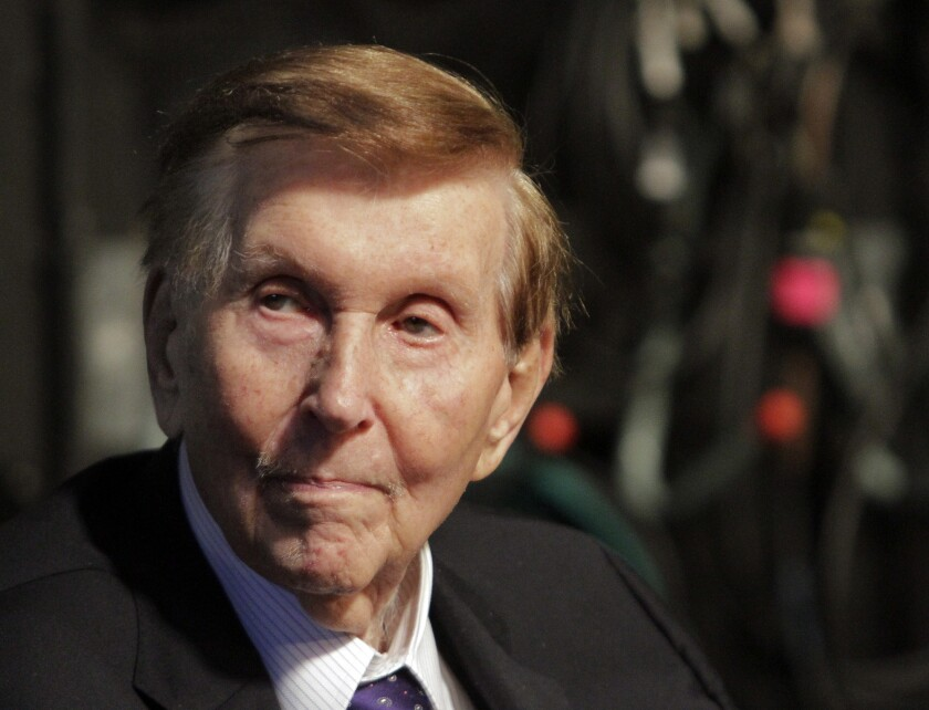 Sumner Redstone, above in 2013, during the dedication of the Sumner Redstone Production studios at USC.