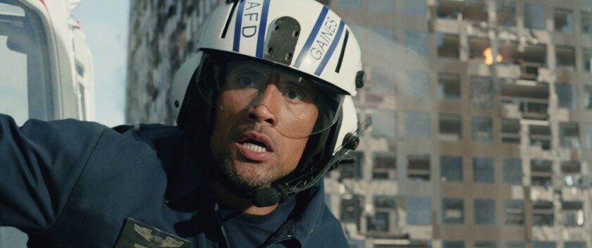 """""""San Andreas,"""" starring Dwayne Johnson, pulled in $54.6 million in the U.S. and Canada."""