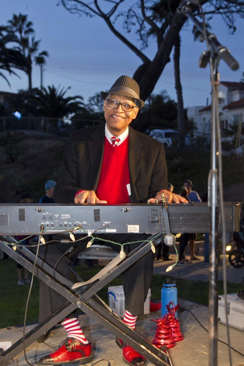 Robert Parker filled Fletcher Cove with the sounds of the holiday