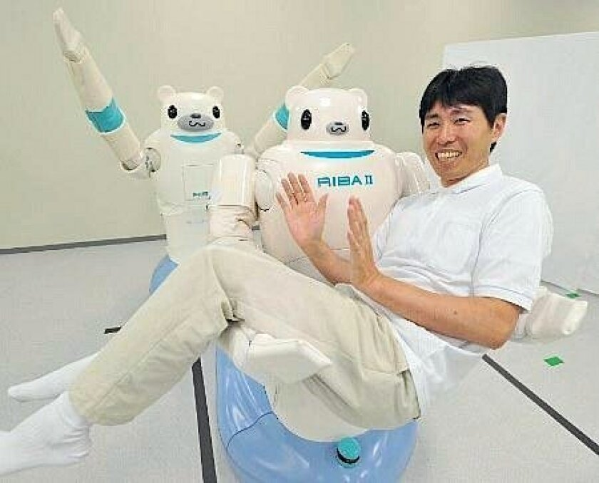 Japanese researchers recently introduced RIBA-2, a robot that is designed to lift people weighing up to 176 pounds. The machine, which doesn't cause uncanny valley, is meant to supplement health care workers.
