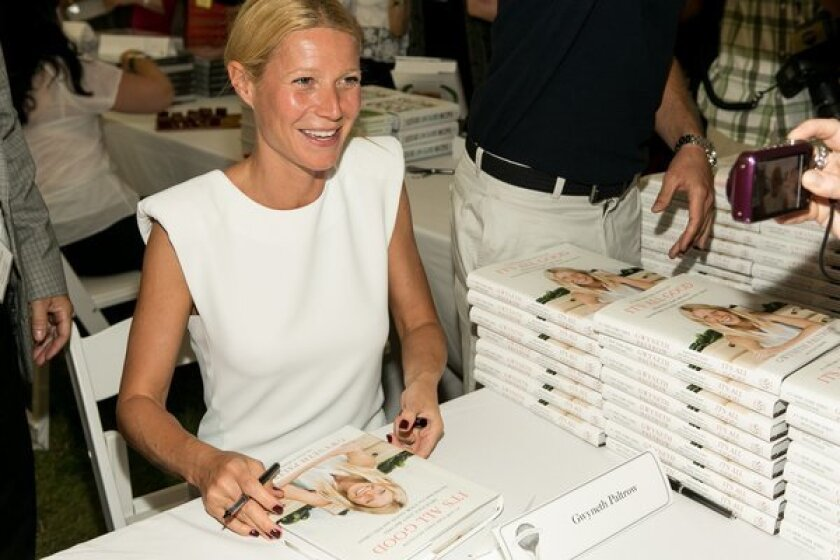 Gwyneth Paltrow created quite a stir at Authors Night at the East Hampton Library in New York.