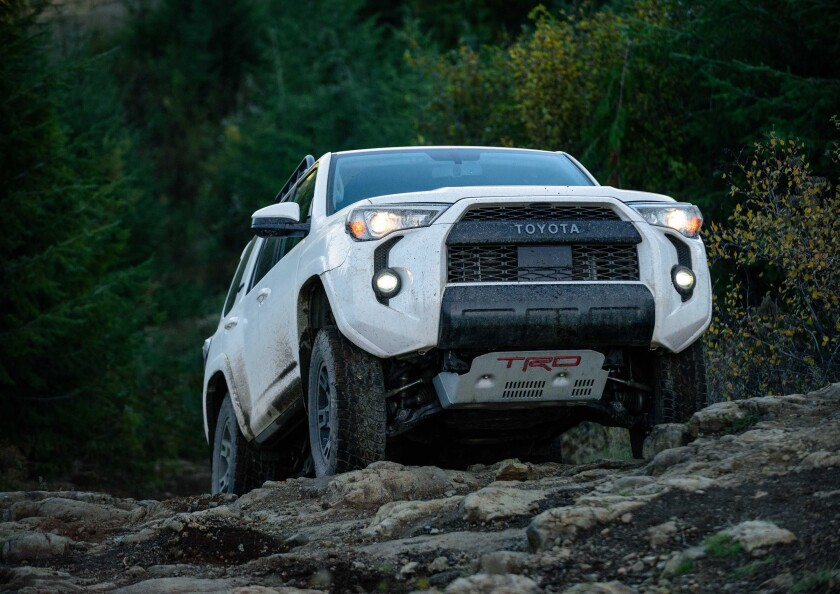 The 2020 Toyota 4Runner TRD Pro has a 4.0-liter V6 engine and five-speed automatic transmission.