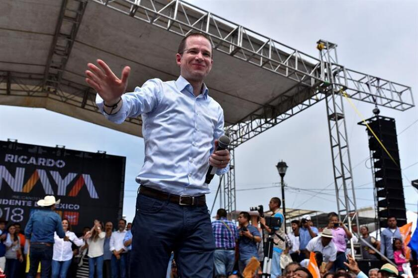 El candidato presidencial del conservador Partido Acción Nacional (PAN), Ricardo Anayal durante un acto de campaña. EFE/Archivo