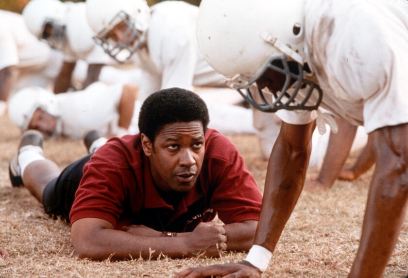 """Denzel Washington as coach Herman Boone in """"Remember the Titans."""""""