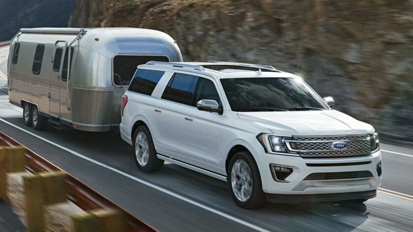 The all-new Ford Expedition, with expected best-in-class towing, features available Blind Spot Infor
