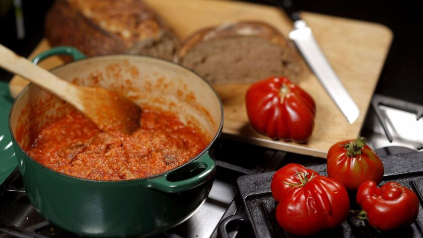 Evan Kleiman's recipe for pappa al pomodoro, the Tuscan tomato-bread soup.
