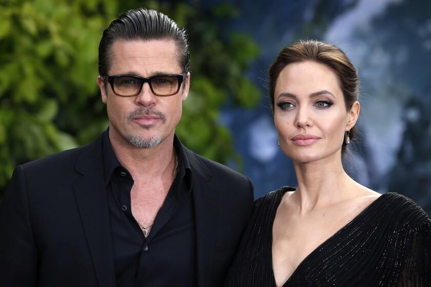 Brad Pitt and Angelina Jolie in 2014. Jolie filed for divorce in September.
