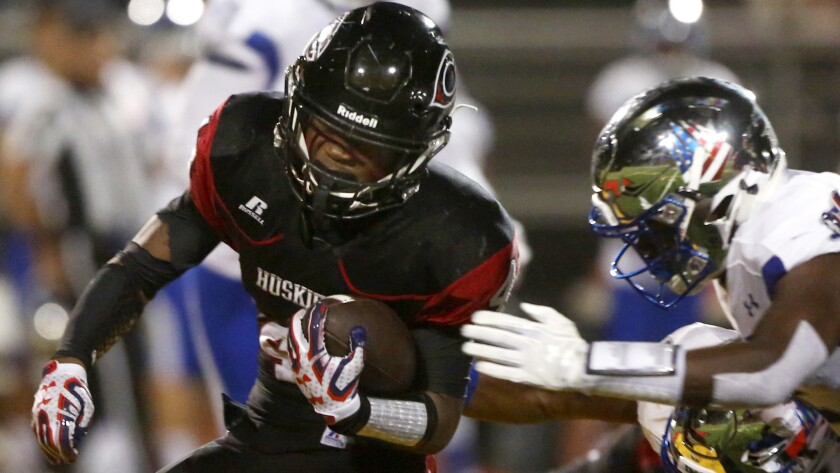 Running back Miles Reed of third-ranked Centennial rushed for 162 yards in 40 carries and scored three touchdowns against IMG Academy on Saturday night.