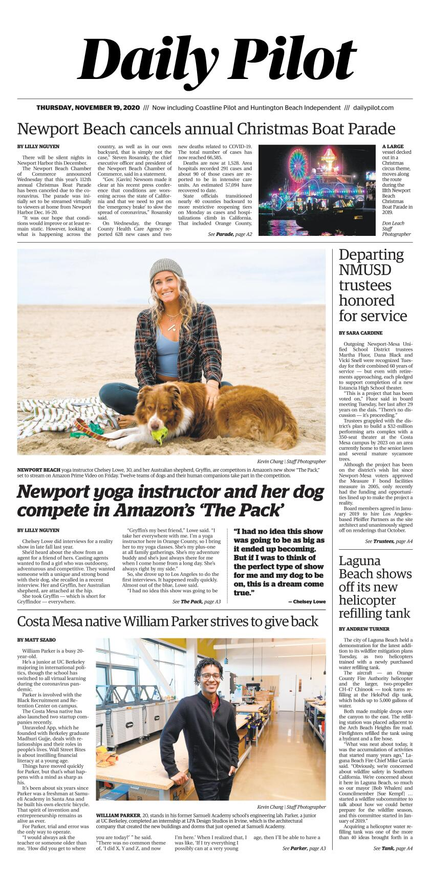 Christmas Gift Ideas For Employees 2020 Los Angeles Daily Pilot e Newspaper: Thursday, Nov. 19, 2020   Los Angeles Times