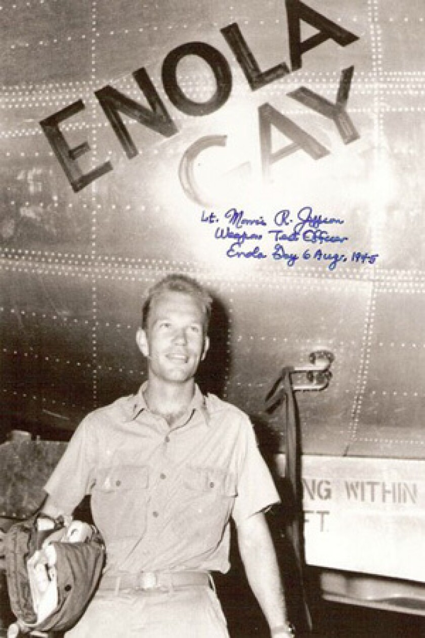 """Morris """"Dick"""" Jeppson's sole combat mission was aboard the Enola Gay."""