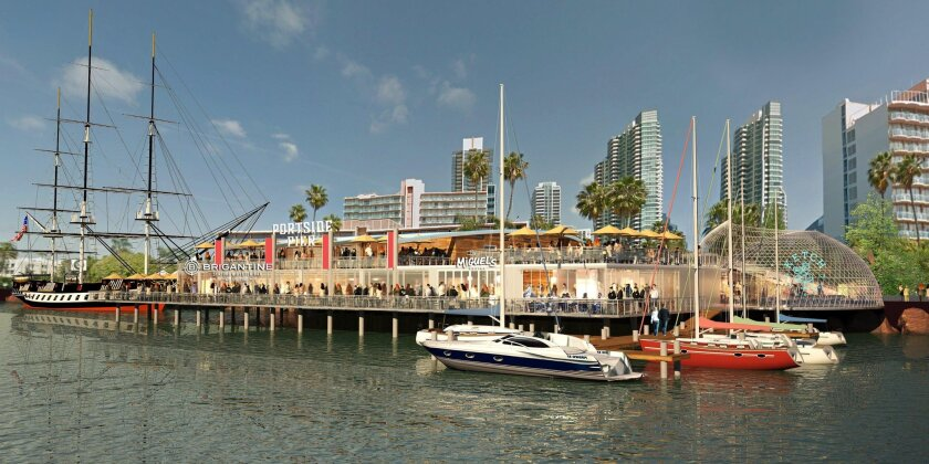 Portside Pier would include a fishnet-like covering of its Ketch brew pub and more space for sailors to dock.