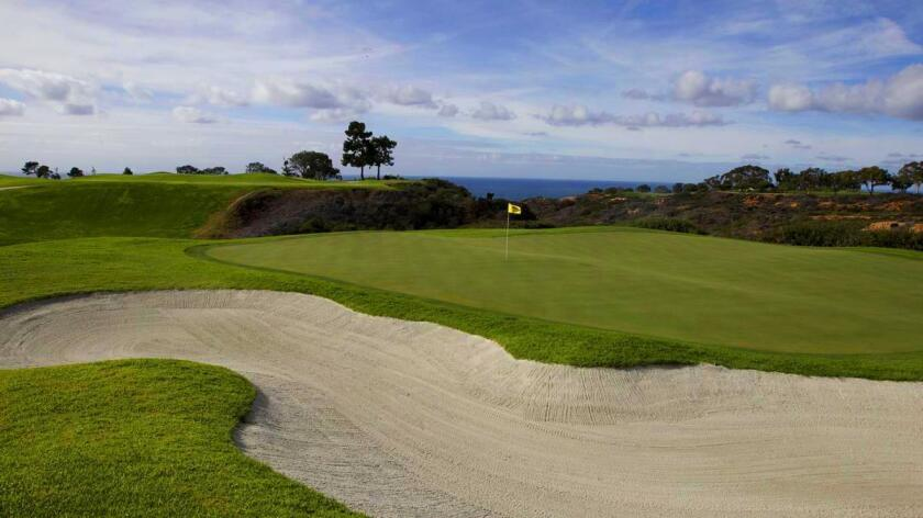 A partial view of the North Course at Torrey Pines Golf Course in La Jolla