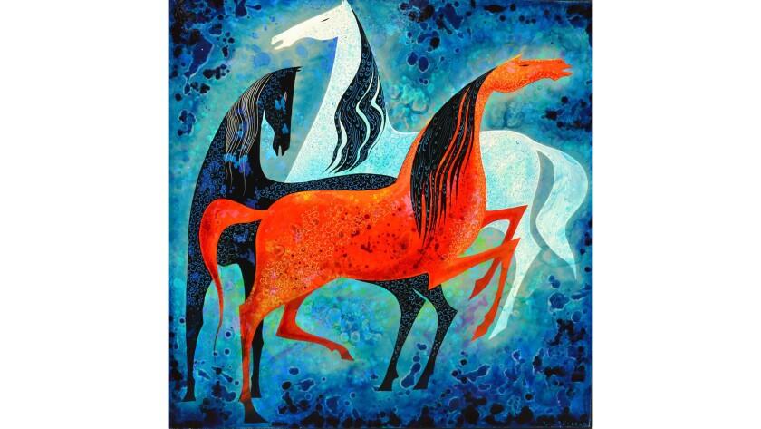 "Hilbert Museum of California Art at Chapman University presents, ""Three Noble Horses,"" a"