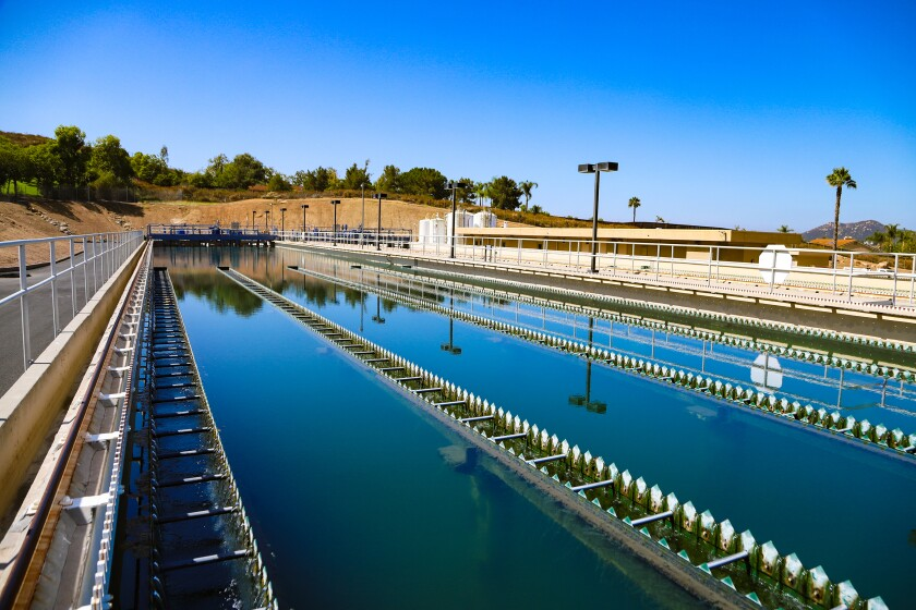 The Lester J. Berglund Water Treatment Plant in Poway.