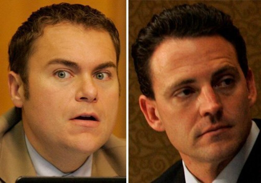 San Diego City Councilman Carl DeMaio and state Assemblyman Nathan Fletcher.
