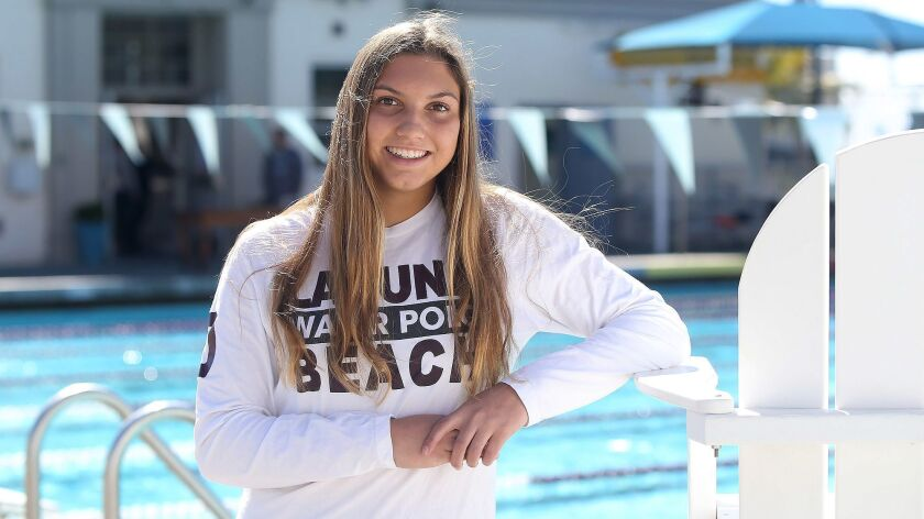 Emma Lineback of Laguna Beach girls' water polo is the Female Athlete of the Week. Lineback, a sopho