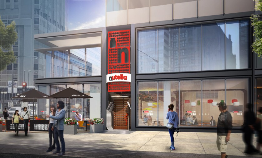 Rendering of the Nutella Cafe.
