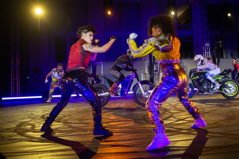 """R.U.N"" performers gave the first public peek at the new Cirque live-action thriller during a party timed to Comic-Con in San Diego over the summer."