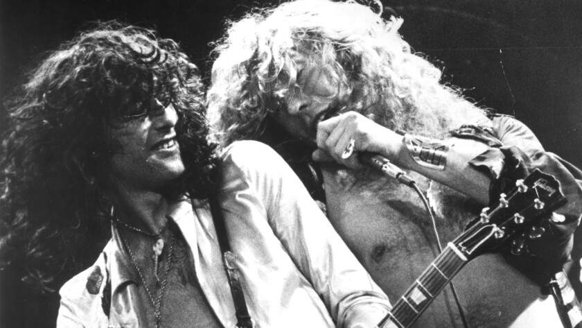 Jimmy Page, left, and Robert Plant