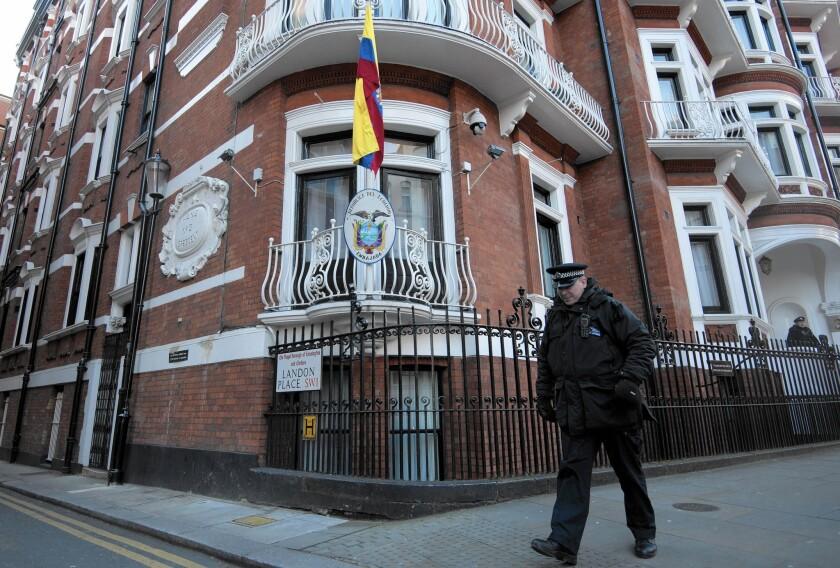 Julian Assange at Ecuadorean Embassy in London