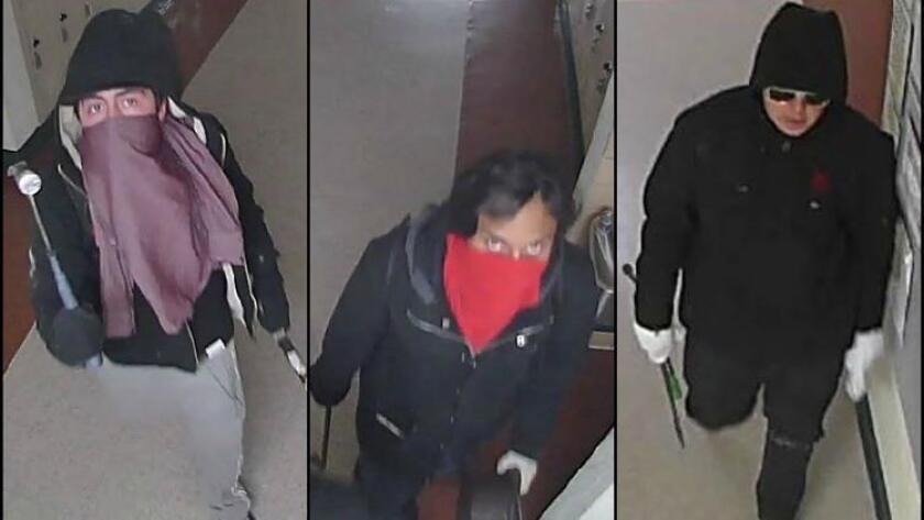 Trio caught on camera breaking into Glendale school classrooms