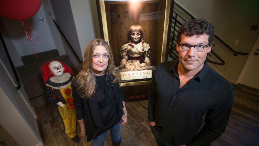 BURBANK, CALIF. -- TUESDAY, AUG. 29, 2017: New Line Cinema's leaders Richard Brener and Carolyn Bl