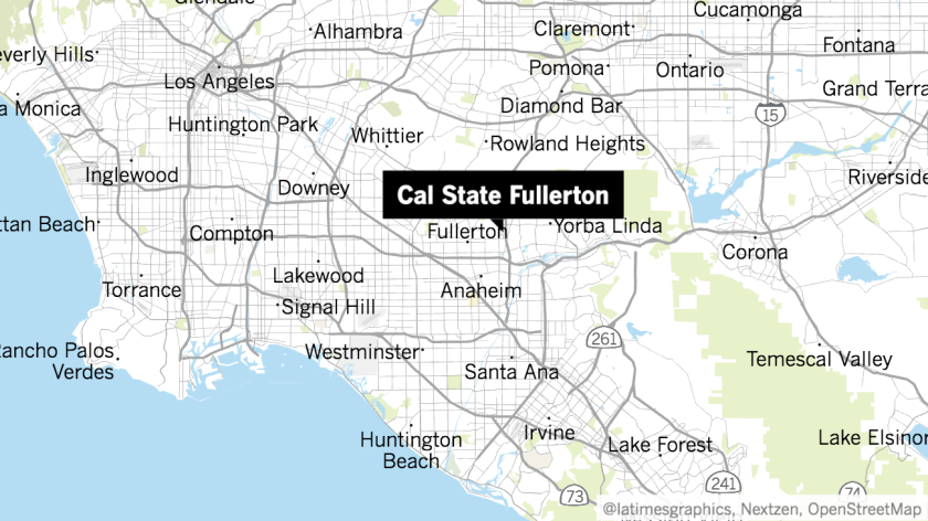 Location of Cal State Fullerton