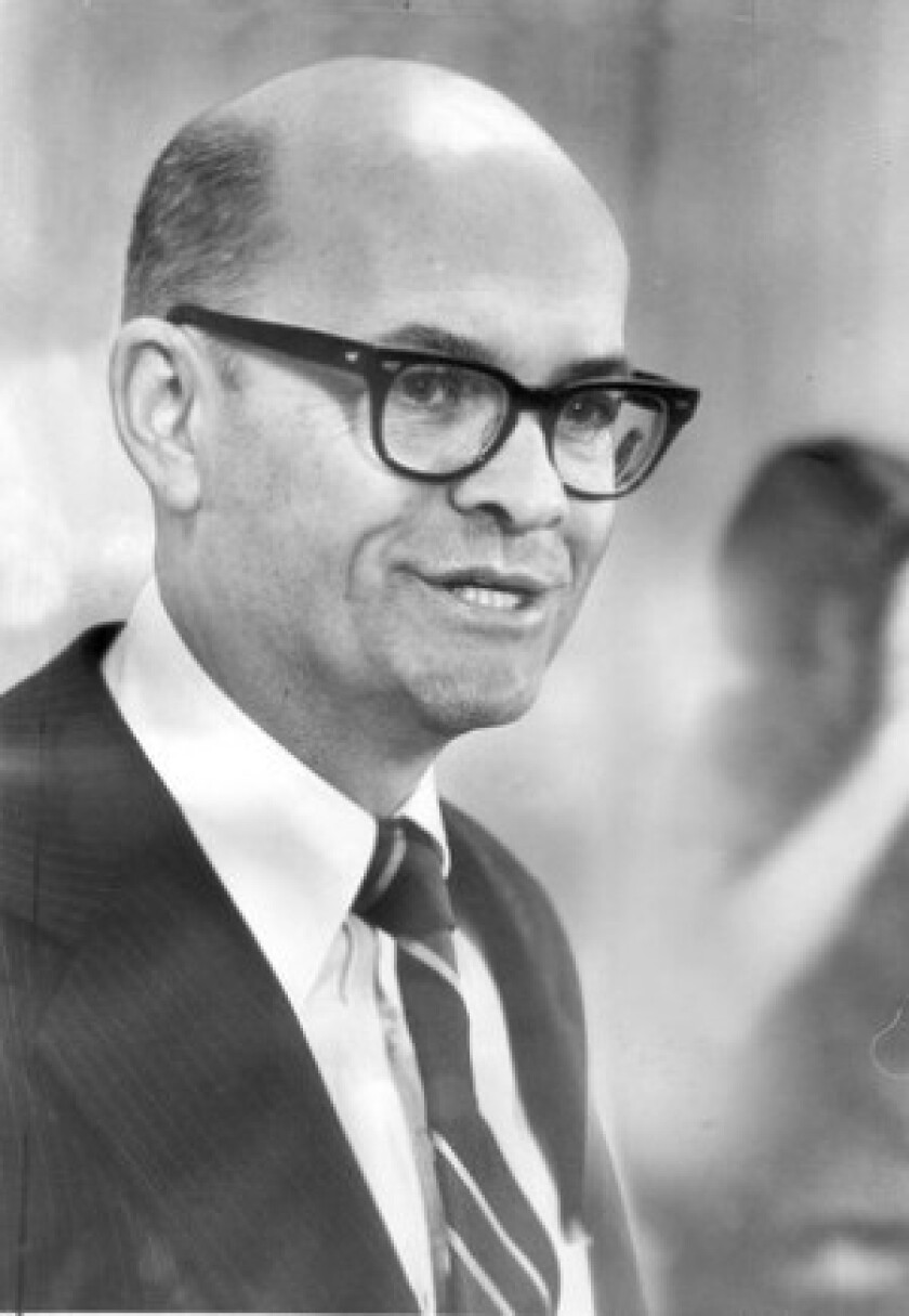 Claude Brinegar succeeded John A. Volpe as transportation secretary in President Nixon's Cabinet. After Nixon resigned, Brinegar served under President Ford for several months before returning to work in the private sector in 1975.