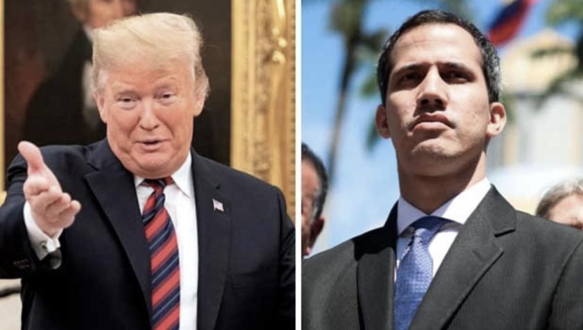 El presidente de EEUU, Donald Trump (i), Juan Guaidó, autollamado 'presidente encargado' de Venezuela.