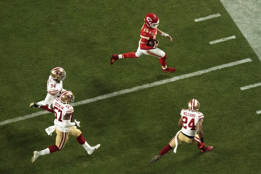 The 49ers' defense was unable to keep up with Patrick Mahomes and the Chiefs for four quarters, surrendering a 10-point lead with less than 10 minutes to go.
