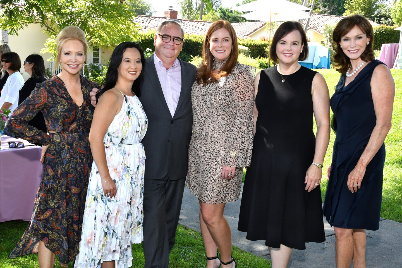 Sandra Maas (emcee), Kathy Reese (Inn at RSF sales and marketing director), Jerome Strack (Inn at RSF GM), Stephanie Rogers, Kathryn Cenci, Karen Hoehn (2012 Art of Fashion chair)