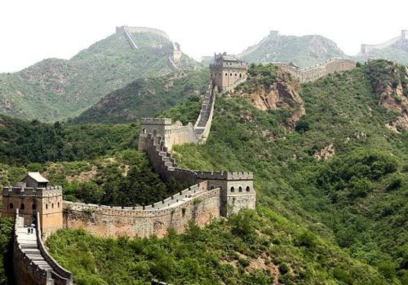 GREAT WALL OF CHINA The 4,160-mile barricade in northern China is the longest man-made structure in the world. The fortification, which largely dates from the 7th through the 4th century BC, was built to protect the dynasties from the Huns, Mongols, Turks and other nomadic tribes.