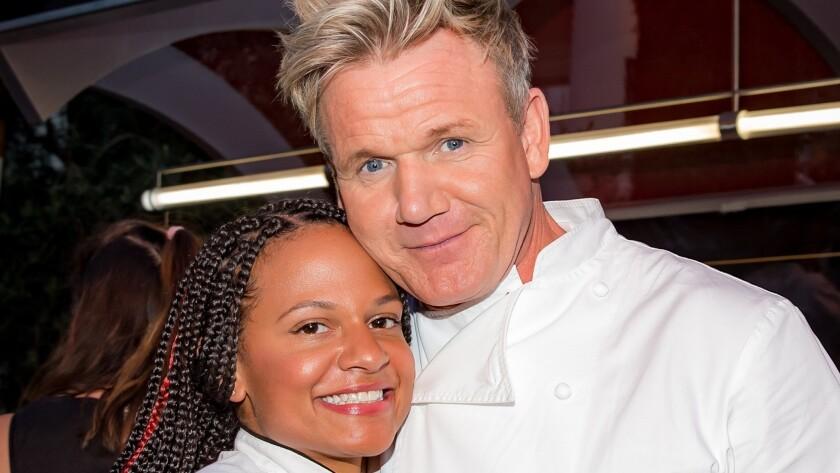 Chef Ariel malone with Gordon Ramsay